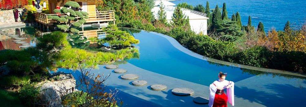 Парк Айвазовское в Партените и Японский сад